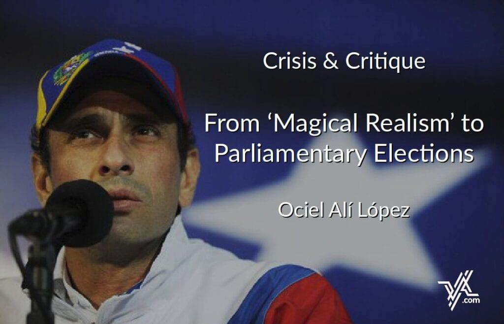 VA columnist Ociel López looks ahead to December's parliamentay elections.
